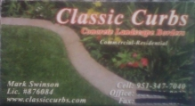 Classic Curbs Concrete Landscaping Border